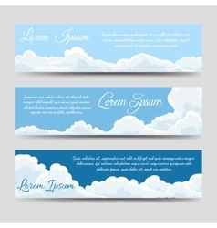 White clouds banners template collection vector image