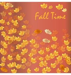 Autumn time seasonal banner vector image vector image