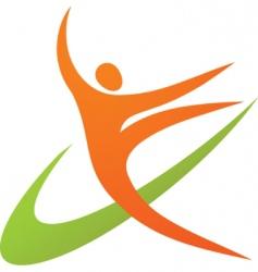 dancing or sport logo vector image