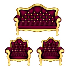Luxury Sofa Chair vector image