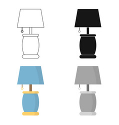 lamp icon of for web and vector image