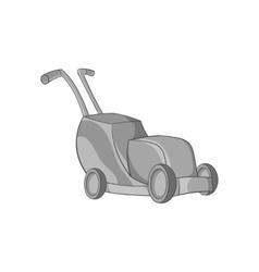 Lawnmower icon black monochrome style vector image