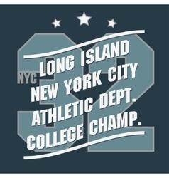 New York Sport t-shirt graphics vector image