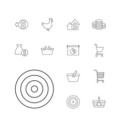 13 market icons vector