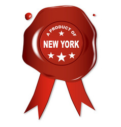 a product of new york vector image