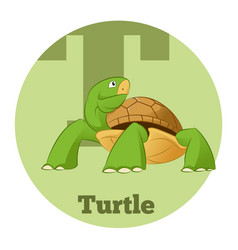 abc cartoon turtle3 vector image