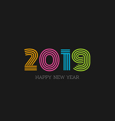 abstract 2019 happy new year background vector image