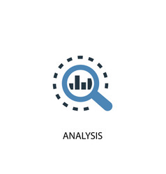 analysis concept 2 colored icon simple blue vector image