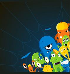angry halloween cartoon vector image
