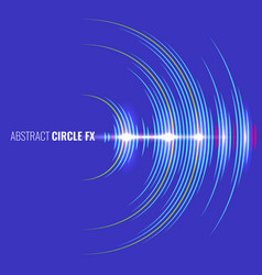 audio album cover with abstract music waveform vector image