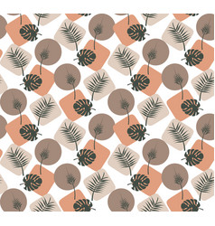 background tropical leaves seamless pattern vector image