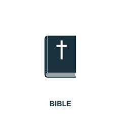 Bible icon creative element design from easter vector