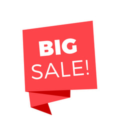 big sale red sale banner image vector image