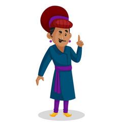 Birbal cartoon character vector