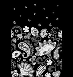 Border indian floral paisley patten seamless vector