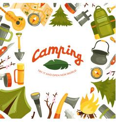 camping flat vector image