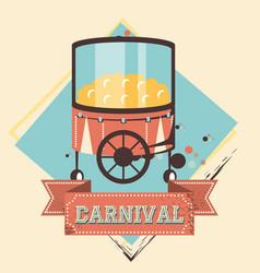 carnival pop corn shop icon vector image