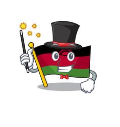 Cartoon character design flag malawi magician vector