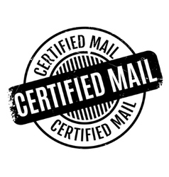 Certified Mail rubber stamp vector