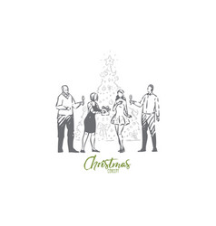 christmas concept sketch isolated vector image