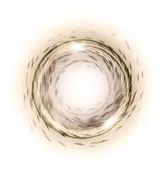 Circle abstract brown vector