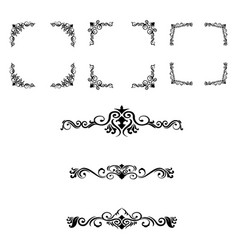 classic ornament frame vintage border vector image