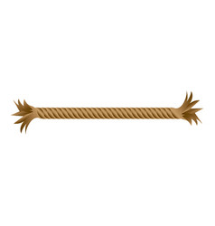 Closeup broken frayed rope piece icon vector