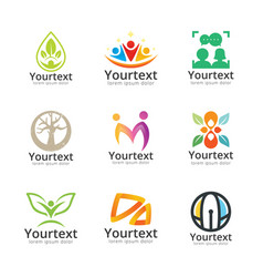 collection social and community logo vector image