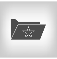 Computer folder with star vector
