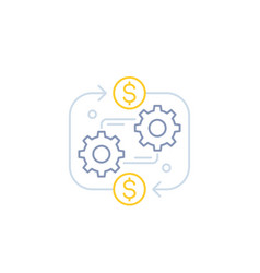 Costs optimization business efficiency line icon vector