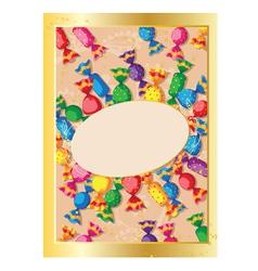 Cute candy card vector