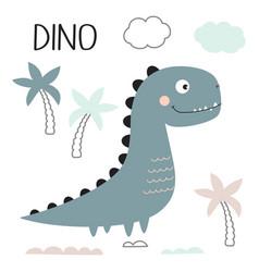 cute dinosaur design vector image
