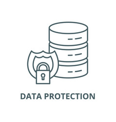 data protection line icon linear concept vector image