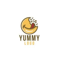 Delicious food yummy logo designs inspiration vector