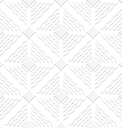 Diagonal white wavy lines and pointy squares vector