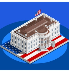 Election Infographic White House Us Isometric vector