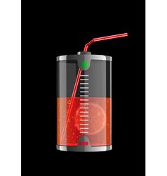 energy orange vector image