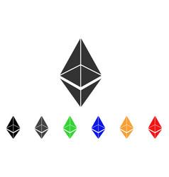 Ethereum icon vector