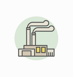 factory and plant colorful icon vector image