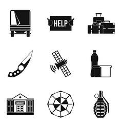 felon icons set simple style vector image