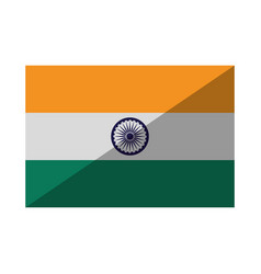 Flag of india isolated icon vector