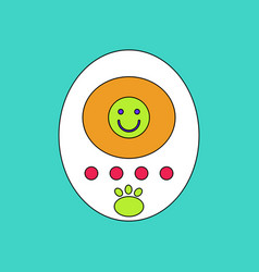 Flat icon design collection tamagotchi pets vector