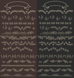 floral ornate elements v vector image