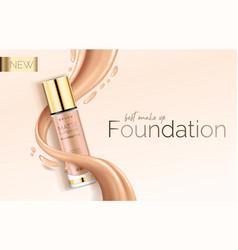 Foundation makeup advertising design template vector