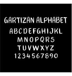 gartizan alphabet typography vector image