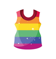 Gay pride blouse on white background vector