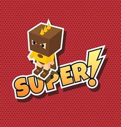 Great superhero cartoon vector