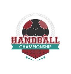 Handball championship emblem vector
