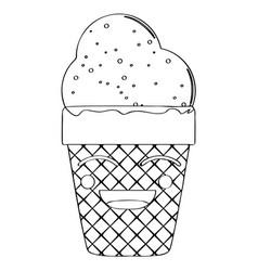 Happy ice cream cone vector