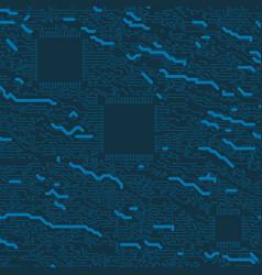 high-tech digital blue circuit board 2d concept vector image